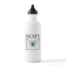 Faith Hope Liver Cancer Water Bottle