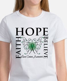 Faith Hope Liver Cancer Tee