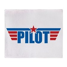 Pilot Aviation Wings Throw Blanket
