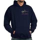 Aruba with gecko Dark Hoodies