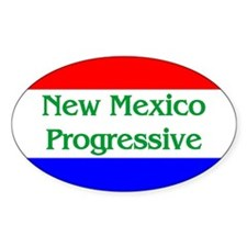 New Mexico Progressive Oval Decal