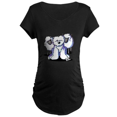 OES Sheepies Maternity Dark T-Shirt