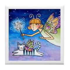 Garden Fairy No. 5... CeramicTile Coaster