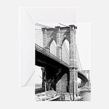 Brooklyn Bridge 1896 Greeting Note Cards (20 Pk.)