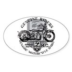 Bikers Sticker (Oval)