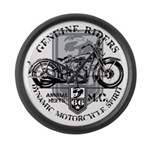 Bikers Large Wall Clock