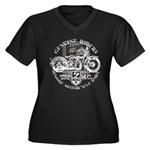 Bikers Women's Plus Size V-Neck Dark T-Shirt