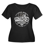 Bikers Women's Plus Size Scoop Neck Dark T-Shirt