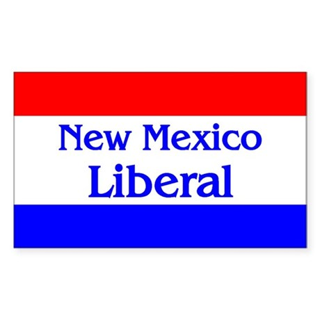 New Mexico Liberal Rectangle Sticker
