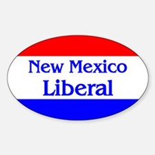 New Mexico Liberal Oval Decal