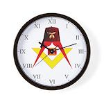 Shriners Fez Wall Clock w/S&C