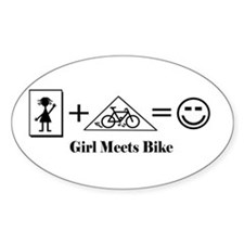 Girl Meets Bike Cycling Decal