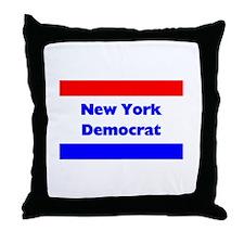 New York Democrat Throw Pillow