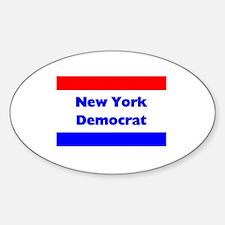 New York Democrat Oval Decal