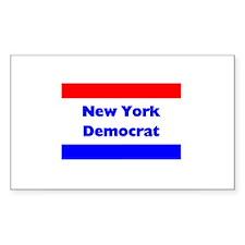 New York Democrat Rectangle Decal