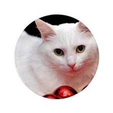 "Xmas Cat 3.5"" Button (100 pack)"