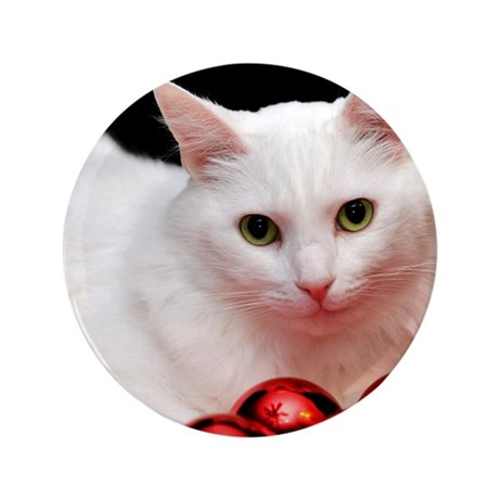 """Xmas Cat 3.5"""" Button (100 pack)"""