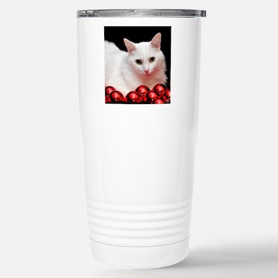 Xmas Cat Stainless Steel Travel Mug