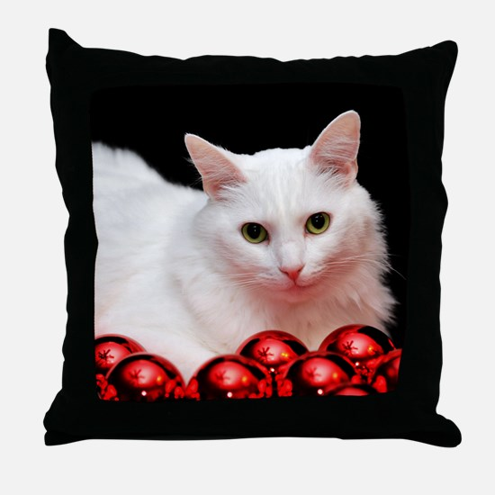 Xmas Cat Throw Pillow