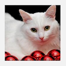 Xmas Cat Tile Coaster