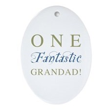 One Fantastic Grandad Ornament (Oval)