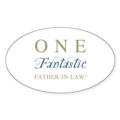 One Fantastic Father-In-Law Sticker (Oval 10 pk)