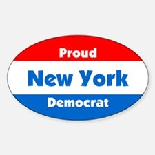 Proud New York Democrat Oval Decal