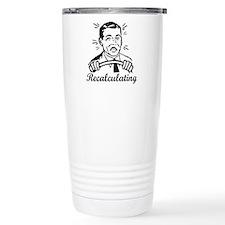 Recalculating Man Travel Mug