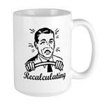 Recalculating Man Large Mug
