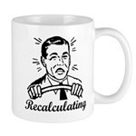 Recalculating Man Mug