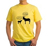 Mutts Mens Classic Yellow T-Shirts