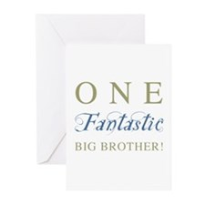 One Fantastic Big Brother Greeting Cards (Pk of 20
