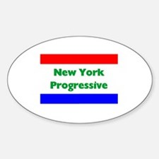 New York Progressive Oval Decal