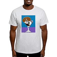 Beagle Martini Ash Grey T-Shirt