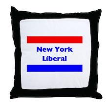 New York Liberal Throw Pillow