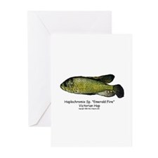 Haplochromis Sp Emerald Fire Greeting Cards (Packa