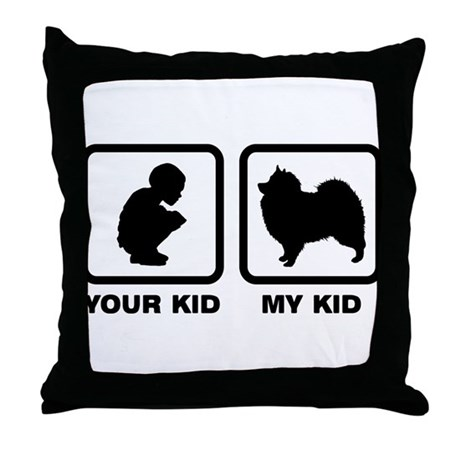 Keeshond Throw Pillow