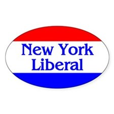 New York Liberal Oval Decal