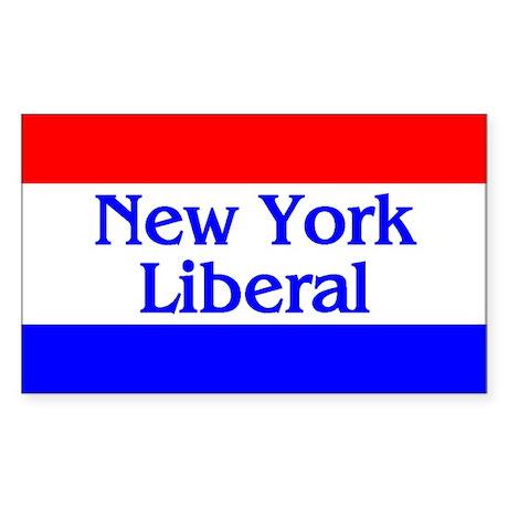 New York Liberal Rectangle Sticker
