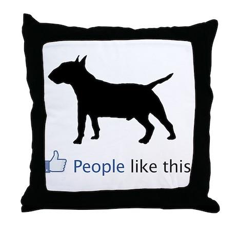 Miniature Bull Terrier Throw Pillow