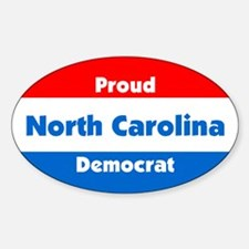 Proud North Carolina Democrat Sticker(Oval)
