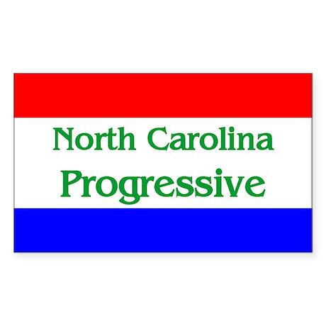 North Carolina Progressive Rectangle Sticker