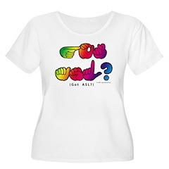 Got ASL? Rainbow SQ CC T-Shirt