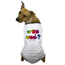 Got ASL? Rainbow SQ CC Dog T-Shirt
