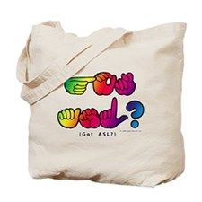 Got ASL? Rainbow SQ CC Tote Bag