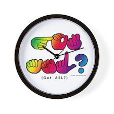 Got ASL? Rainbow SQ CC Wall Clock