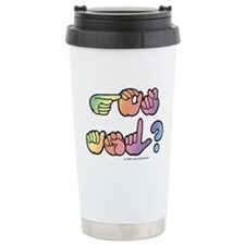 Got ASL? Pastel SQ Travel Coffee Mug