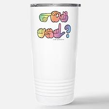 Got ASL? Pastel SQ Travel Mug