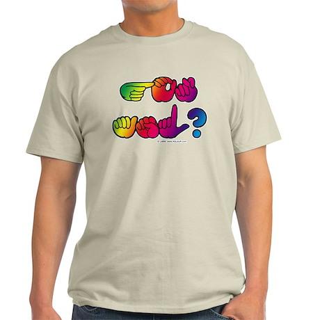 Got ASL? Rainbow SQ Light T-Shirt