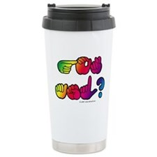 Got ASL? Rainbow SQ Travel Mug